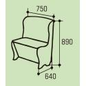 """Мягкое кухонное кресло """"Нота"""""""